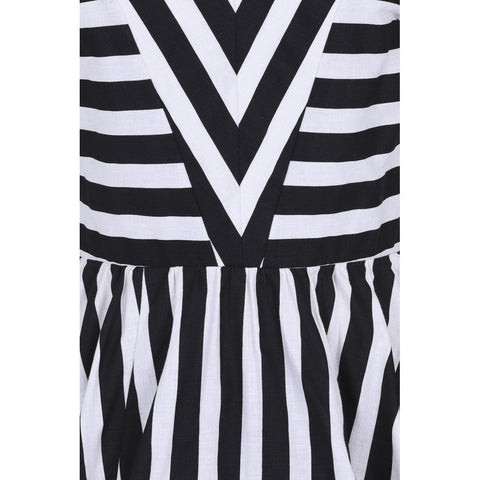 Joanie Striped Dress in Black and White by Collectif