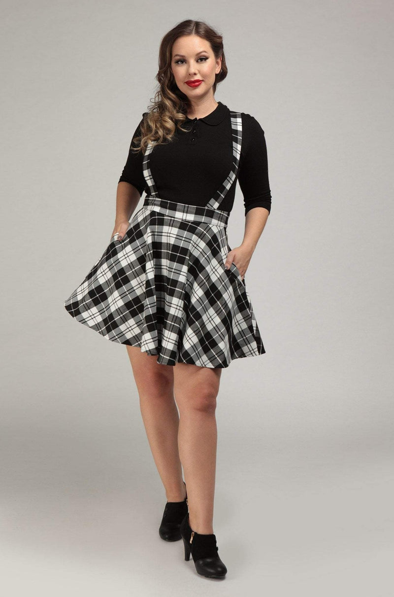 Lexi Monochrome Skater Skirt by Collectif