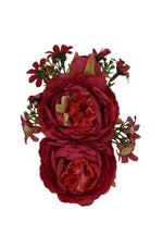 Lorna Red Roses Hair Flower by Collectif
