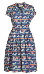 Blue Show Ponies Tencel Louise Dress by Palava