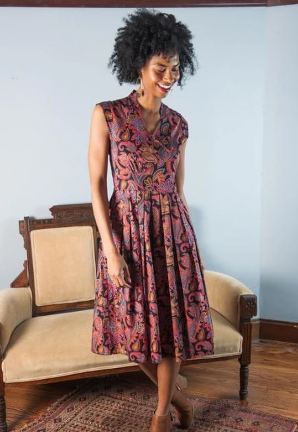 Lucille Dress in Paisley by Mata Traders