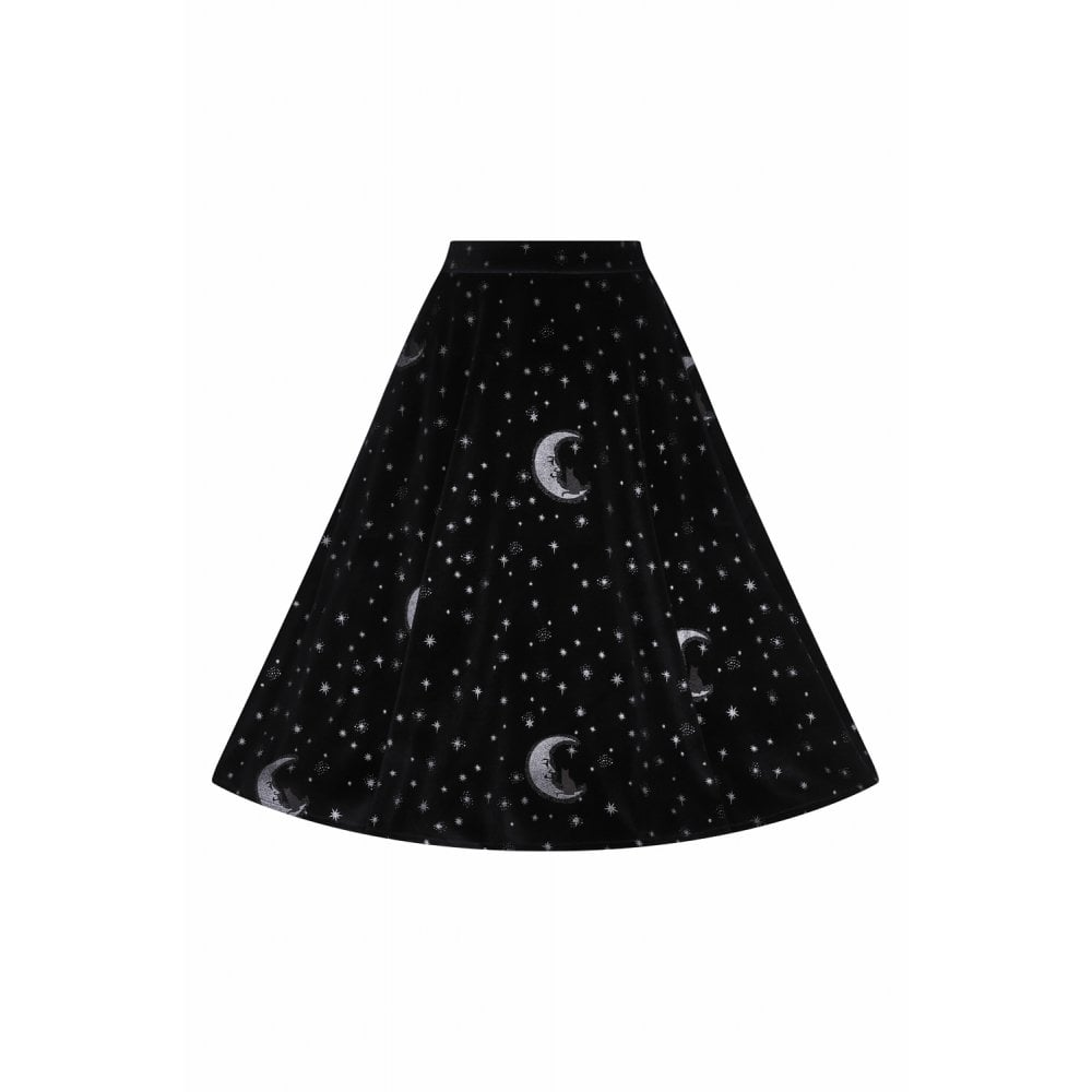 Mattie Midnight Moon Velvet Swing Skirt