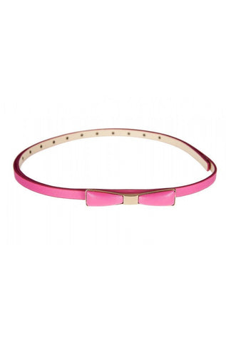 Metal Skinny Bow Belt by Tatyana Multiple Colors