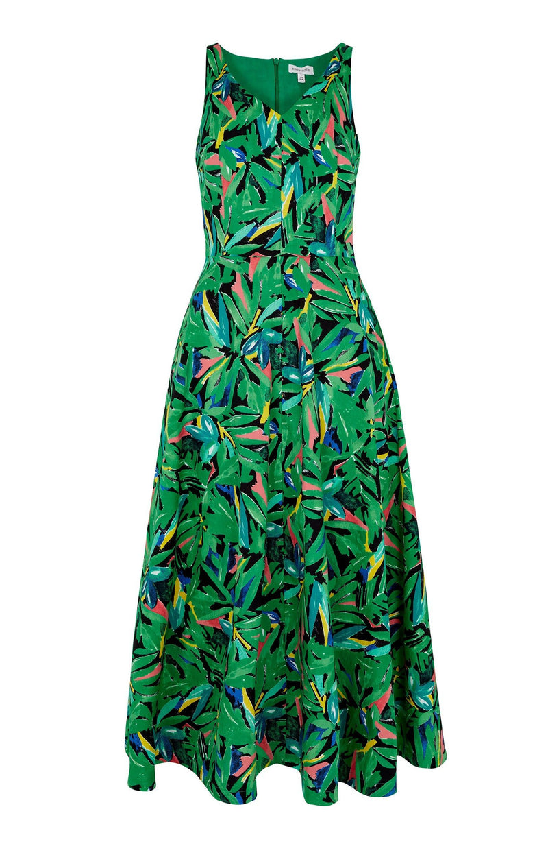 Final Sale Margot Hothouse Palms Midi Dress by Emily & Fin