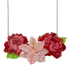 Tickled Pink Large Flower Necklace by Erstwilder