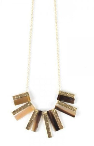 Basilico Necklace in Gold by Mata Traders