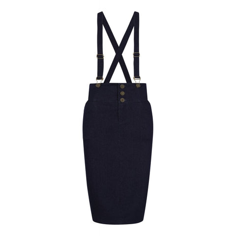 Nomi Denim Pencil Skirt by Collectif