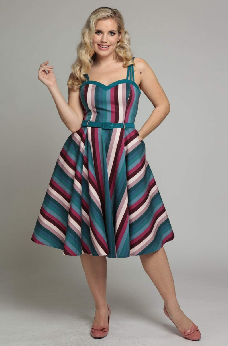 Paradise Stripe Nova Dress by Collectif