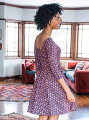 Novela Dress in Plum Blooms by Mata Traders