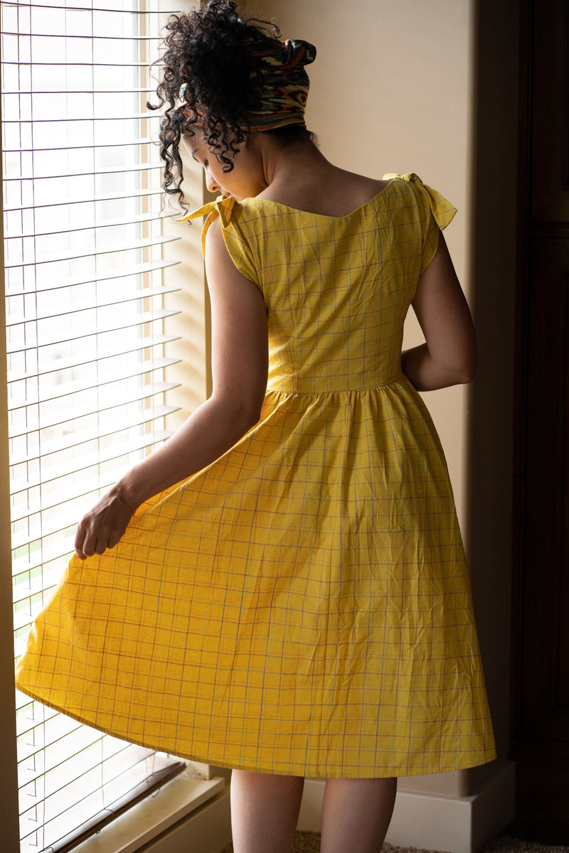 Chrissie Dress in Albern Yellow by Saint Geraldine