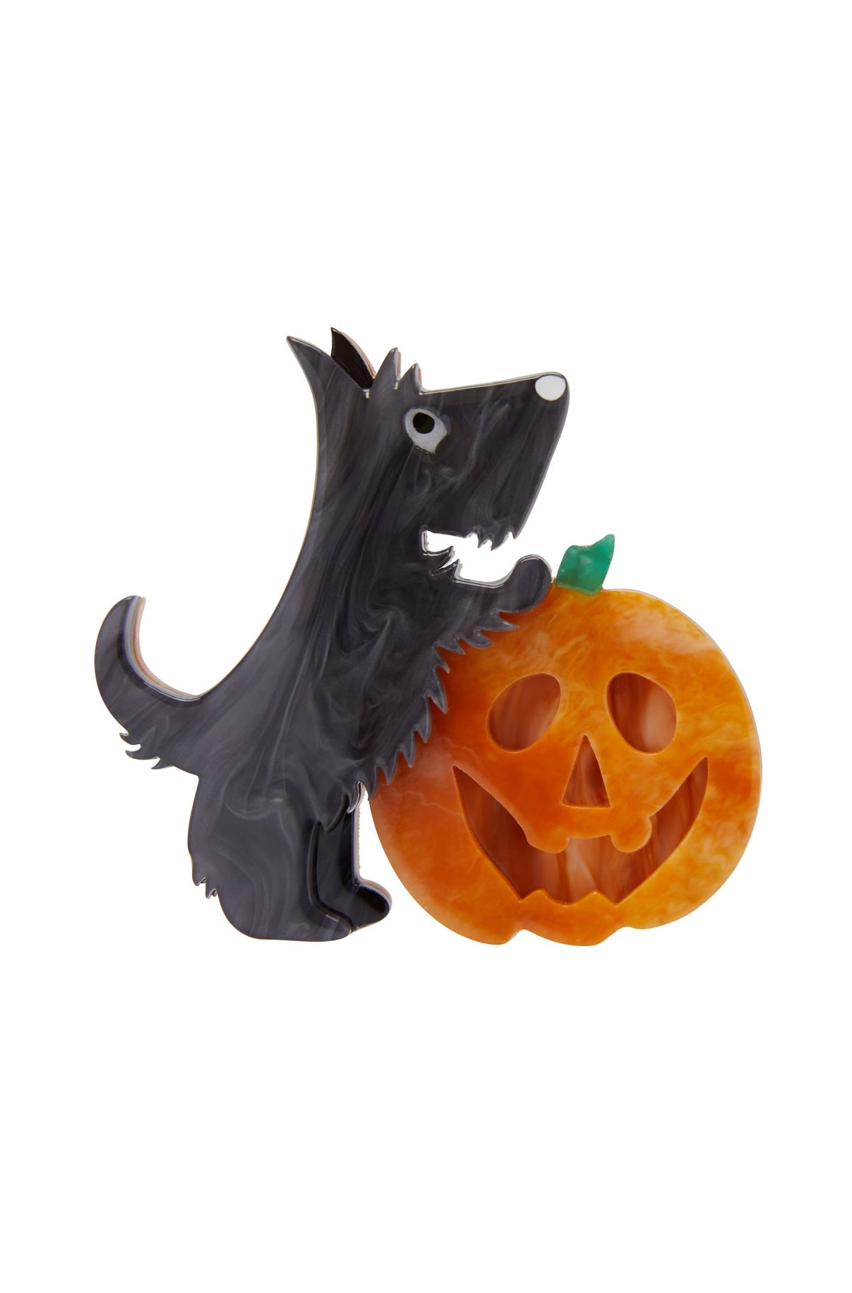Patch the Pumpkin Pup Brooch by Erstwilder
