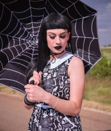 Glow Halloween Collared Dress by Retrolicious