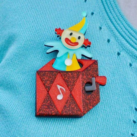 Cranky Jack Toy Brooch by Erstwilder
