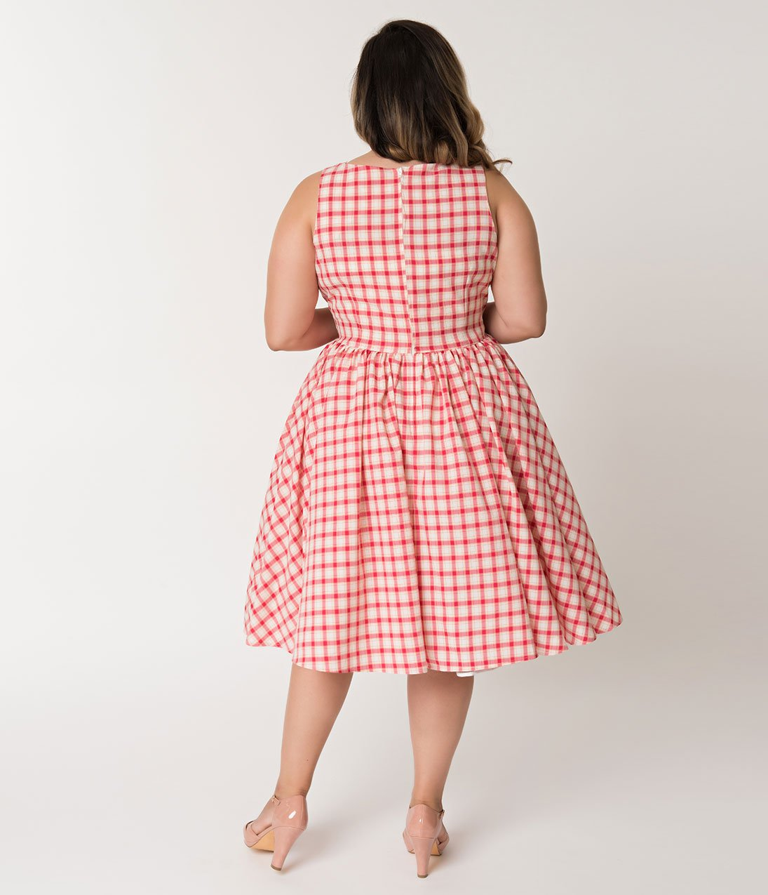 Pink Plaid Doheny Dress by Unique Vintage