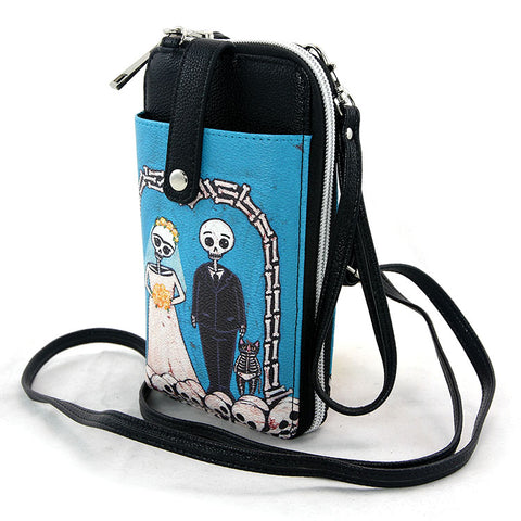 Til Death Do Us Part Crossbody Phone Wallet