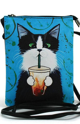 Caffeine Kitty Crossbody Bag