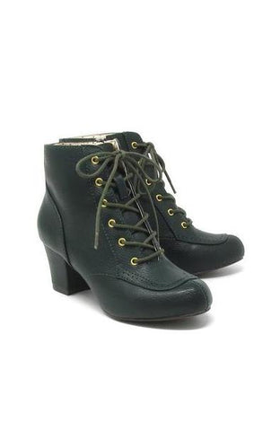 Razzle Booties in Olive Green by B.A.I.T.
