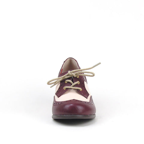 Remmy Grape Heeled Oxfords by B.A.I.T.