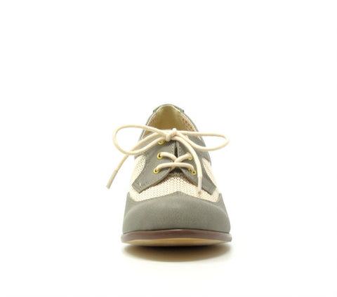Renna Dove Gray Mesh Heeled Oxfords by B.A.I.T.