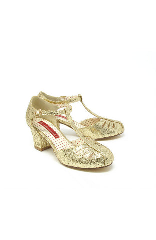 Robbie Gold Starlet T-Strap Shoes by B.A.I.T.