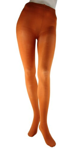 Foot Traffic Rust Microfiber Tights