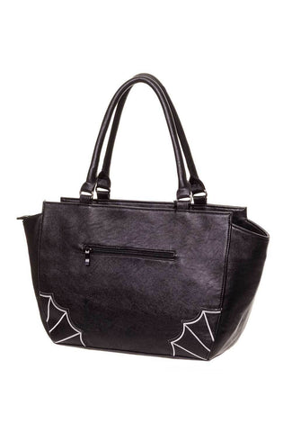 Bats Handbag with White Batties
