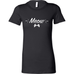 Meow Tee in Black by Kittees