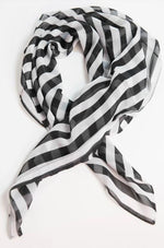 Black & White Striped Scarf