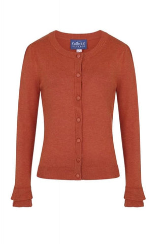 Orange Serenity Cardigan Sweater by Collectif