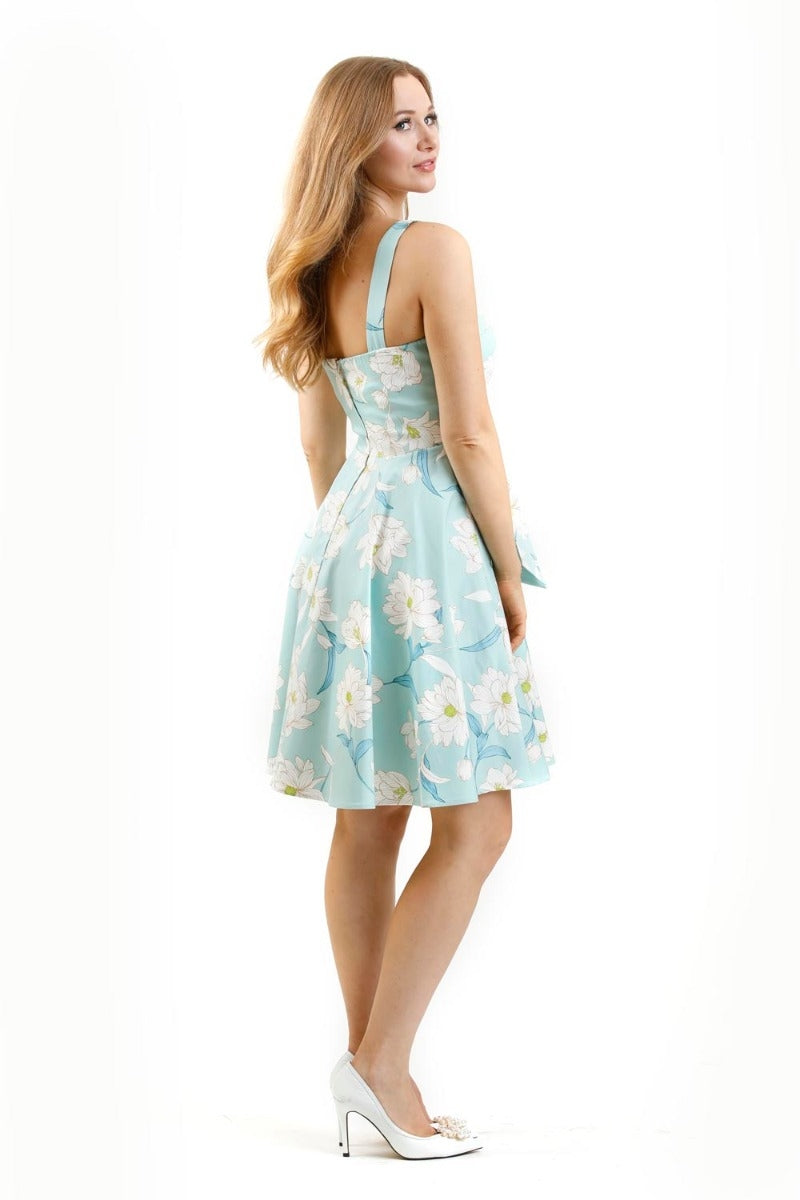 Mint Fold-Over Dress by Eva Rose