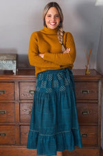 Missoula Midi Skirt in Dusk by Mata Traders