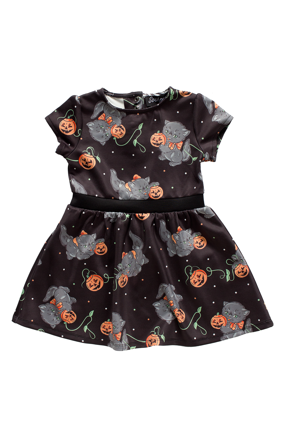 Sweets Feline Spooky Kids Dress by Sourpuss