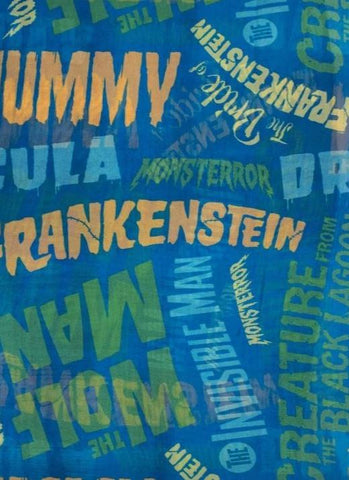 Monster Movie Titles Hair Scarf