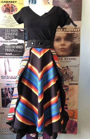 3bf77a98b0 Starlet Overlay Skirt in Multi-Color Stripe by Lady De Couture ...