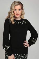 Stevie Berry Floral Sweater by Collectif