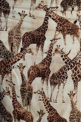 Sharon Cotton Giraffe Print Skirt