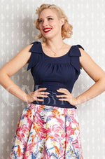 Tamara-Lee Top in Navy by Miss Candyfloss