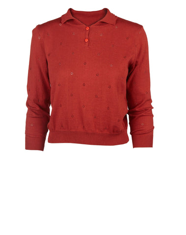 Rust Organic Cotton Sweater by Palava