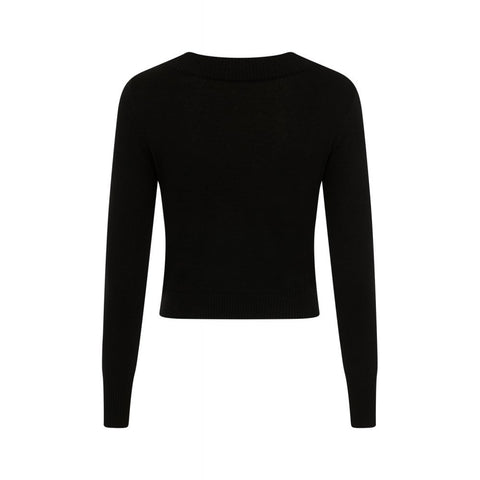 Black Tracy Tie Sweater by Collectif