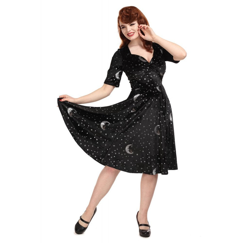 Trixie Midnight Smiling Moon Dress by Collectif