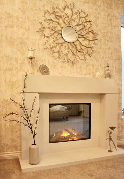 blazes. blazesfiresurrounds, gateshead, Newcastle, Gotham, micro marble, electric fire, fire surrounds
