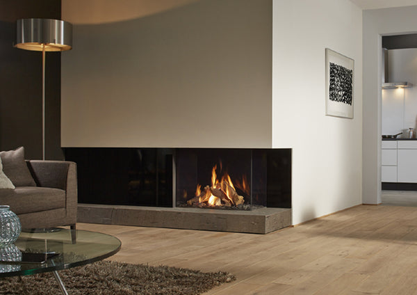 Dru maestro triple sided unit, statement gas fire, blazes fire surrounds, gateshead,, Newcastle