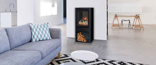 Evonic, blazes fire surrounds, Tuva, stove, electric, logs, modern, log store.