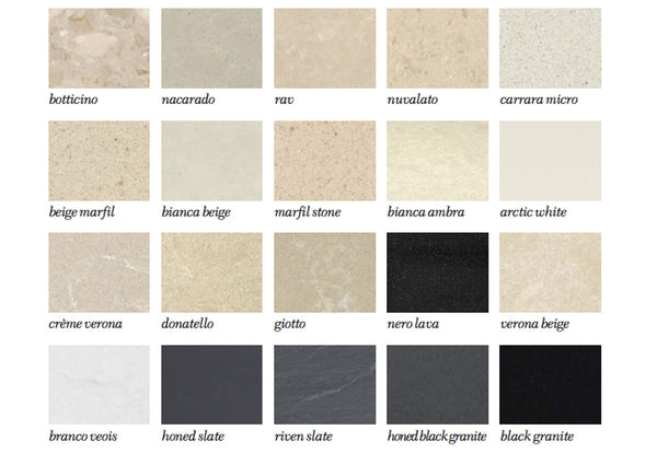 Colour Swatches/ Edge Finishes