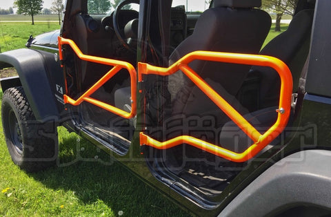 Jeep JK Wrangler Tube Doors 4 Door Set Color Fluorescent Orange with Steinjƒ & Jeep JK Wrangler Tube Doors 4 Door Set Color Fluorescent Orange ...