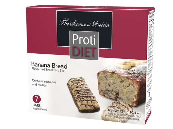ProtiDiet Banana Bread flavored bar