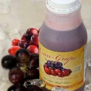 Cran Grape Fruit Drink in a bottle