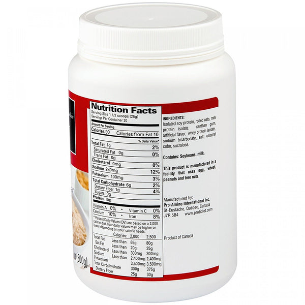 ProtiDiet Maple Brown Sugar Instant Oatmeal Mix (TUB)