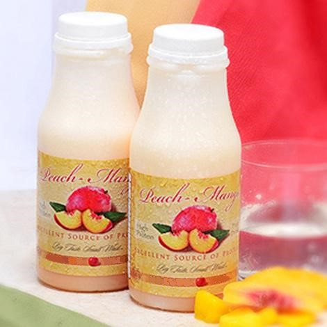 Peach-Mango Fruit Drink in a bottle