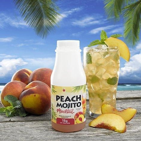 Peach Mojito Mocktail Drink in a bottle